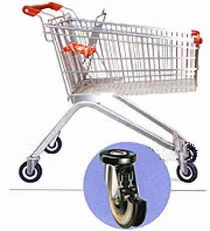 超市顾客手推车